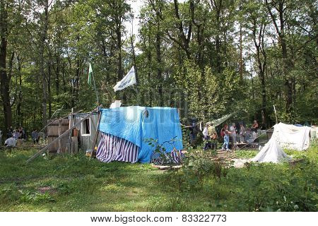 Trailer camp movement of the defenders of the Khimki forest