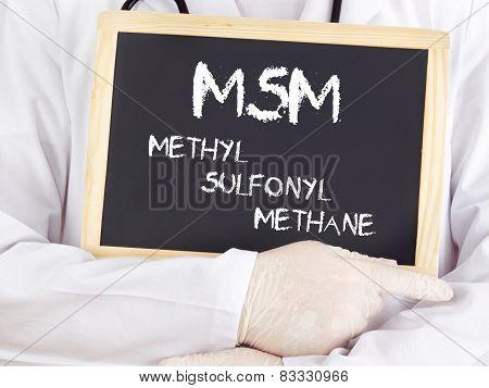 Doctor Shows Information: Msm Methylsulfonylmethane