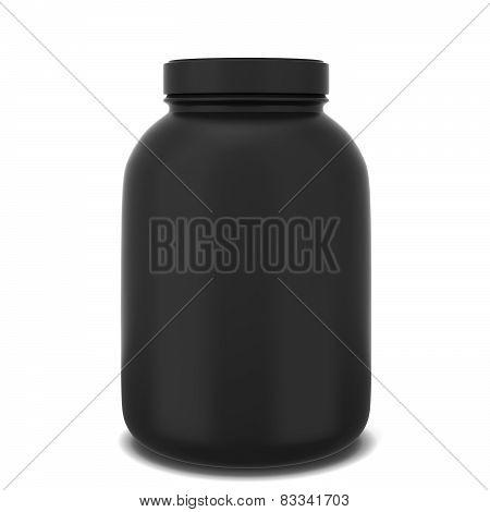 Sport supplement jar. 3d illustration isolated on white background poster
