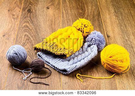 Yarn And Knitting Caps