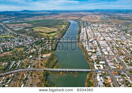 Aerial View Of Rockhampton, Queensland, Australia