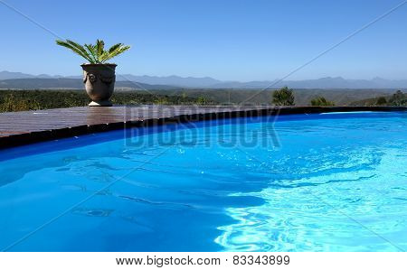 Beautiful Blue Outdoor Pool