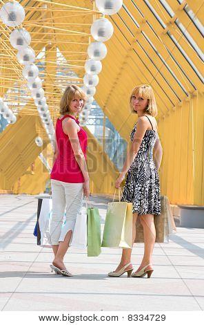 Beautiful Young Women Shopping.