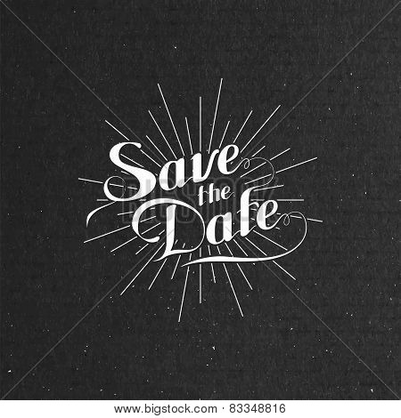 illustration of handwritten Save the Date label