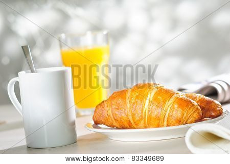 Croissant And Orange Juice