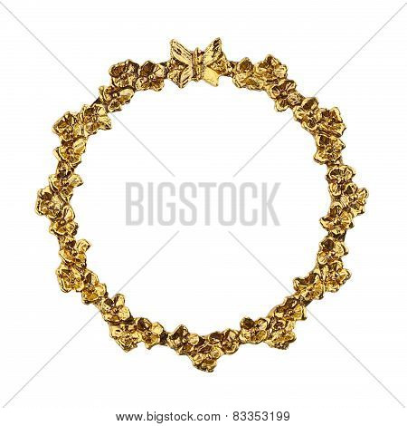 Round Flower Gold Picture Frame
