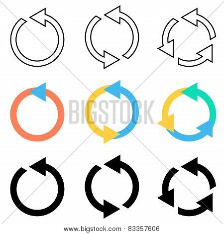 Rotating Circle Arrows