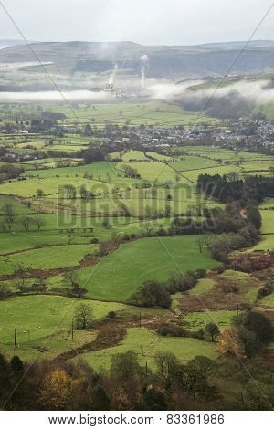 Mam Tor Autumn Landscape In Morning In Peak District
