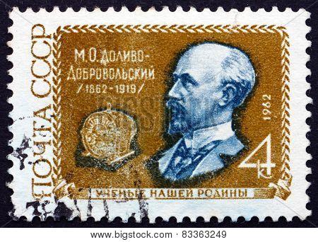 Postage Stamp Russia 1962 Mikhail Osipovich Dolivo-dobrovolsky, Scientist