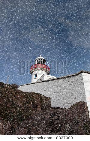 Lighthouse During A Rain Storm