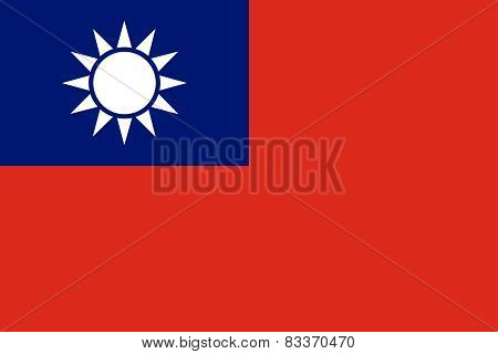 Taiwan, Officially The Republic Of China Official Flag