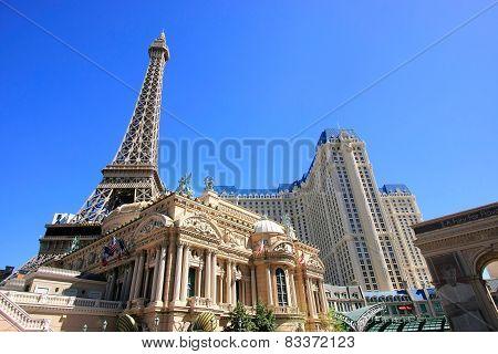 Las Vegas, Usa - March 19: Paris Palace Hotel And Casino On March 19, 2013 In Las Vegas, Usa. Las Ve