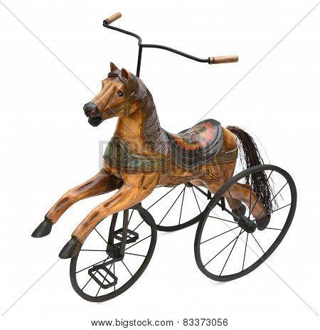 Wood Horse Tricycle Bike