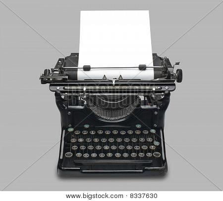 Antique typewriter, isolated