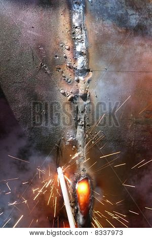 Welding  Metal  Pipe