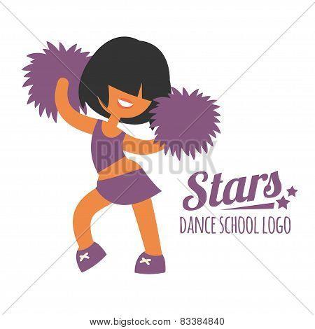 Smiling beautiful sporty teenager cheerleader girl