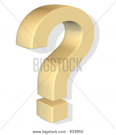 gold question mark