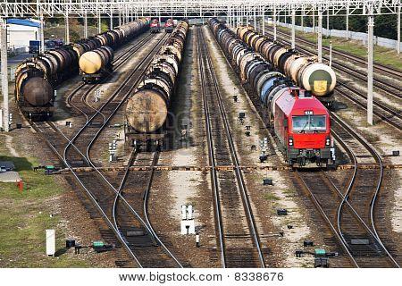Tranportation Of Oil On Railroad