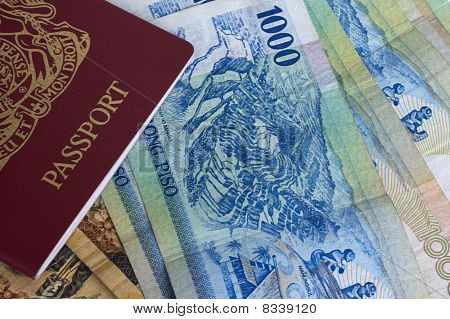 Passport And Banknotes