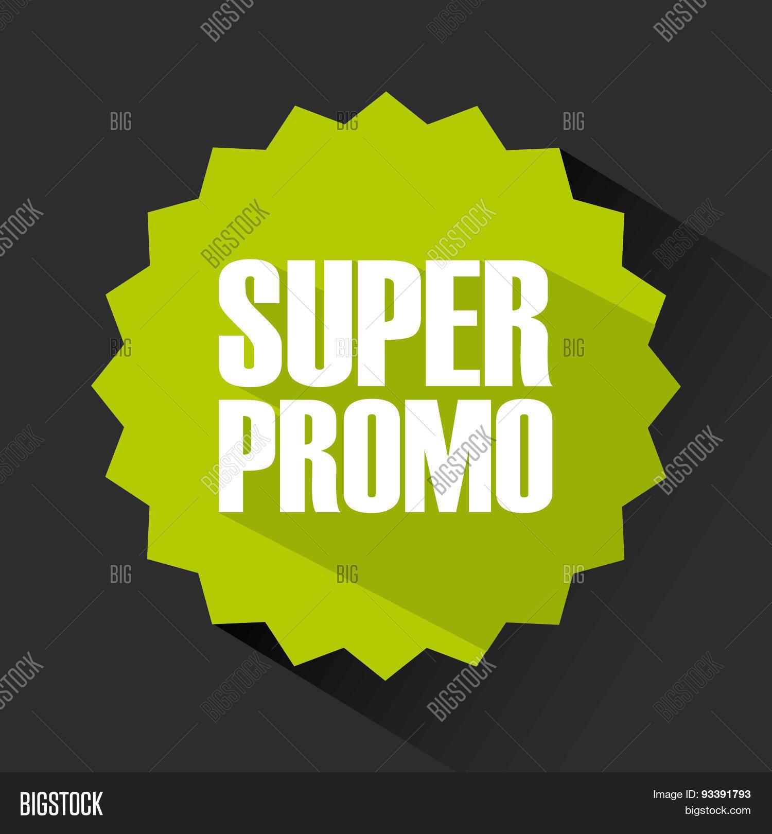 Super Promo Design Vector & Photo (Free Trial) | Bigstock