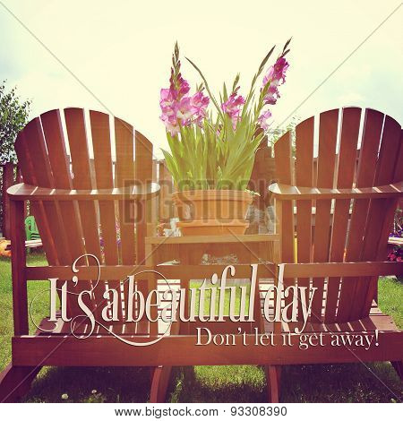 Instagram Of Deck Chairs In The Sunlight With Quote