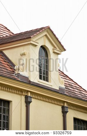 Stucco Building With Dormer In Park, Gainesville, Florida