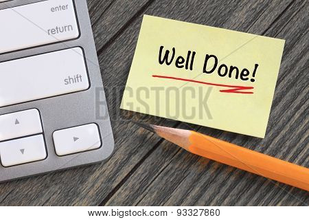 well done message note