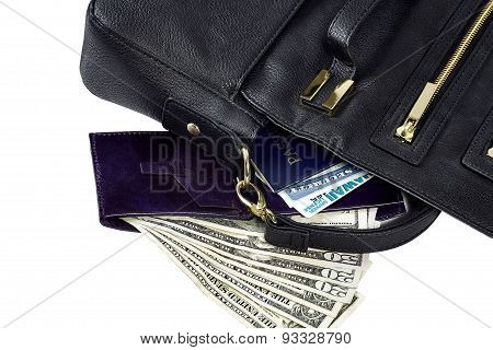 Purse with Wallet and Identity Documents