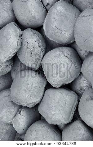 Charcoal Briquettes Background Texture