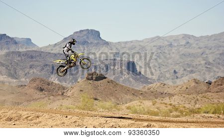 A Motocross Racer Practices At Sara Park