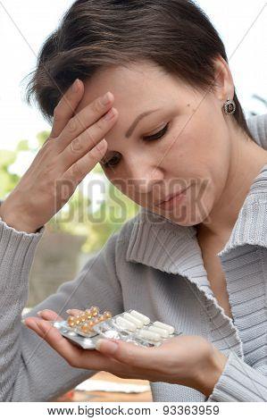 woman feels malaise