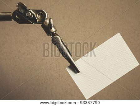 Metal Clamp And Paper