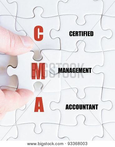 Last Puzzle Piece With Business Acronym Cma