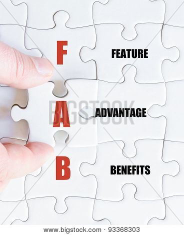 Last Puzzle Piece With Business Acronym Fab
