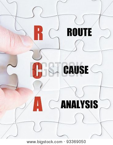 Last Puzzle Piece With Business Acronym Rca