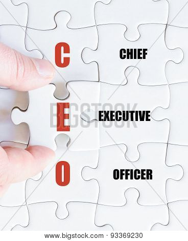 Last Puzzle Piece With Business Acronym Ceo