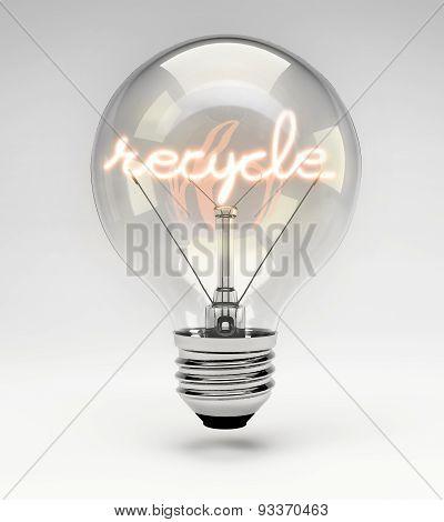 Conceptual Light Bulb (set) - Recycle