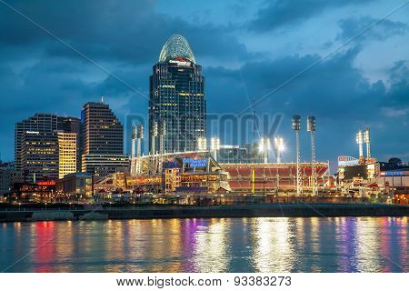 Great American Ball Park Stadium In Cincinnati