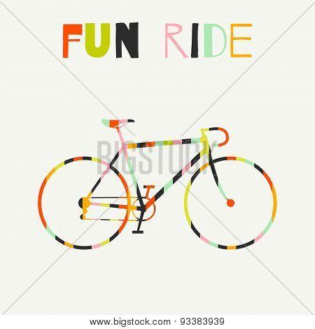 Bike in colorful stripes