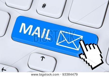 Sending E-mail Mail Message On Computer Keyboard