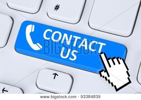 Contact Us Calling Service Customer Hotline Telephone Symbol