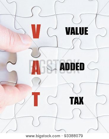 Last Puzzle Piece With Business Acronym Vat