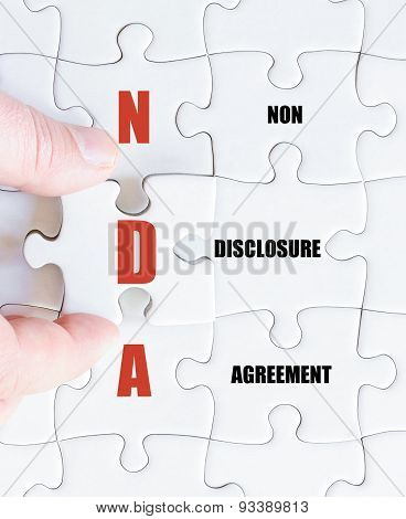 Last Puzzle Piece With Business Acronym Nda