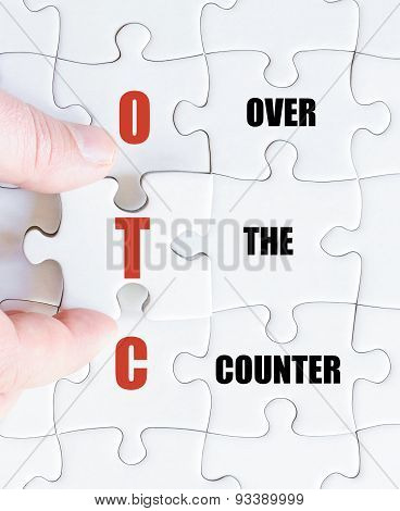 Last Puzzle Piece With Business Acronym Otc