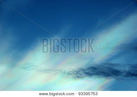Beautiful Iridescent Colorful Cloud