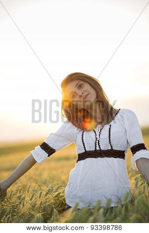 Lady In Wheat
