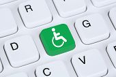 Web accessibility online on internet website computer for handicap people with disabilities poster