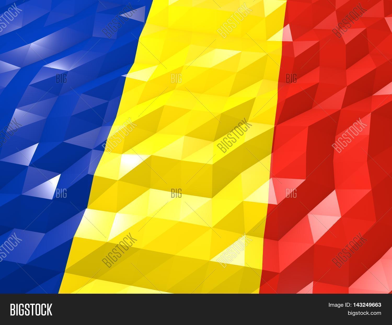 Flag Romania 3d Image Photo Free Trial Bigstock