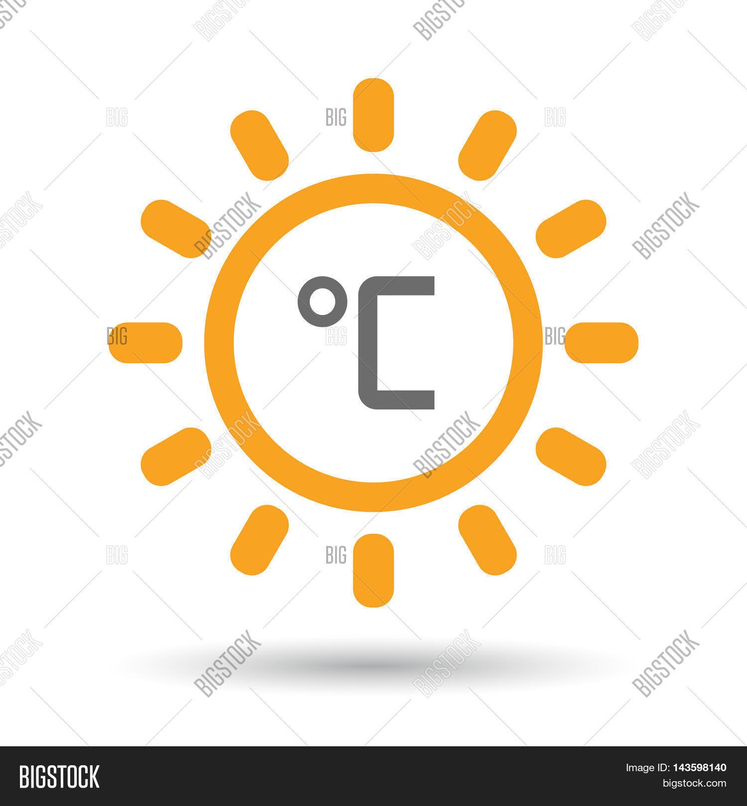 Isolated Line Art Sun Vector Photo Free Trial Bigstock