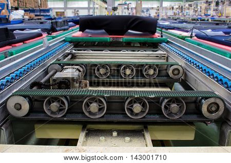 conveyor belt and chain conveyor in industry.
